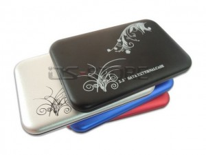 """High quality USB 2.0 External Hard Drive Enclosure Case Box for 2.5"""" SATA HDD flower  style"""