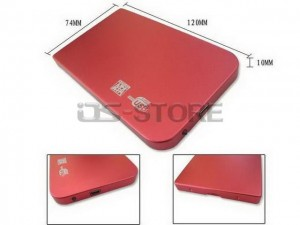 "Ultra-thin USB 2.0 External Hard Drive Enclosure Case Box for 2.5"" SATA HDD Simple style"