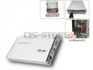 """USB 2.0 External Hard Drive Enclosure Box for 2.5"""" IDE+SATA HDD Combo with BIG Circuit board Glossy style"""