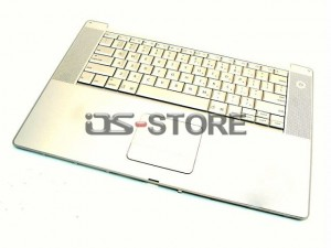 "Keyboard with Top Case Frame replacement for Apple PowerBook G4 15"" 15.2"" A1046 A1095 A1106 A1138 M8591LL/A M8592LL/A Multi Language silver"