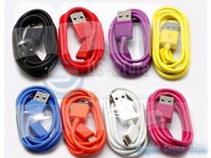 Color USB To Micro USB 200cm Data charger sync Colorful Cable For nokia Samsung htc Sony Ericsson Motorola zte LG BlackBerry Google