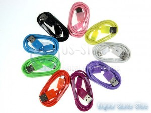 Color USB To Micro USB Data charger sync Colorful Cable For nokia Samsung htc Sony Ericsson Motorola zte LG BlackBerry Google