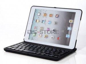 Leather Flip Cover Case with Swivel Rotary Stand + Bluetooth Wireless Keyboard for iPad mini