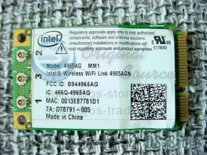 Dell Laptop Intel 4965AG Mini PCIe Wireless WLAN WiFi Card Device Module