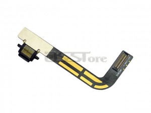 Charger Charging Dock Port Connector Ribbon Flex Cable Replacement for apple iPad 4 4th Black