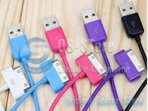 Color USB To Micro 100cm 200cm 300cm Data charger sync Colorful Cable For iPhone 2G 3G 3GS 4G iPad iPod touch1 2 3 classic nano video