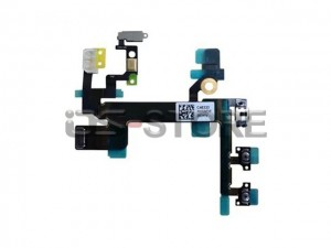 Power On/off  Mute Volume Button Switch Connector Flex Cable Ribbon Replacement for apple iPhone 5C