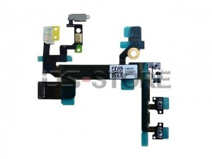 Power On/off  Mute Volume Button Switch Connector Flex Cable Ribbon Replacement for apple iPhone 5s 5GS