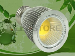 E27 5W COB Spot Lamp White / Warm Light 2700-70000K 500LM AC85-265V