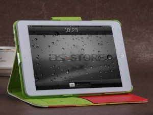 Hybrid PU Leather Wallet Flip Pouch Stand Case Cover For iPad mini