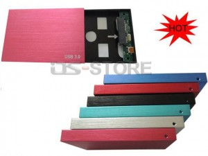 "High speed quality USB 3.0 External Hard Drive Enclosure Case Box for 2.5"" SATA HDD Matt style"