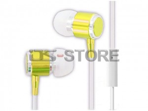 Metal 3.5mm In-Ear Earphone Headphone Headset Earbuds with MIC Microphone Answering Function for Mobile Phone Tablet PC PSP MP3 MP4 WHF-085