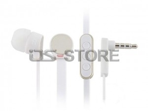 Flat Cable 3.5mm In-Ear Earphone Headphone Headset Earbuds with MIC Volume Remote for Apple iPhone iPod iPad WHF-105