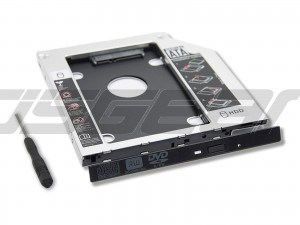 "2.5"" 12.7mm 2nd BOX Caddy Bay SATA HDD SSD Case Tray to Blu Ray BD CD DVD RW Rom ODD Hard Disk Drive Laptop Adapter"