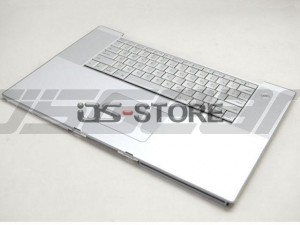 "Keyboard with Top Case frame replacement for Apple PowerBook G4 Laptop 17"" A1013 A1052 A1085 A1107 A1139 Multi Language silver"