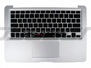 "Keyboard with Top Case Frame replacement for Apple MacBook Pro Unibody Laptop 17"" A1297 MC226LL/A Multi Language Black"