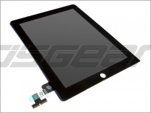 "9.7"" Full LCD Display Screen+Touch Digitizer Glass Panel Replacement for apple IPad 2 Black"