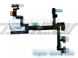 Power Mute Volume Button Switch Connector Flex Cable Ribbon Repair Part Replacement for iPhone 5 5th 5G
