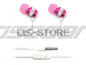 Metallic In-Ear Earphone Headphone Headset Earbuds with MIC Microphone for Apple iPhone iPod iPad WHF-081
