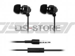 Metallic In-Ear Earphone Headphone Headset Earbuds with MIC Microphone for Mobile Phone Tablet PC PSP MP3 MP4 WHF-081