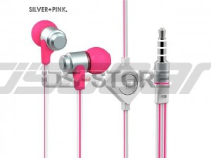 Flat Cable 3.5mm In-Ear Earphone Headphone Headset Earbuds with MIC Answering Function for Mobile Phone Tablet PC PSP MP3 MP4 WHF-116